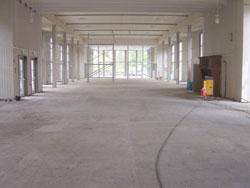 Arbeitsvorbereitung für Terrazzo-Sanierung
