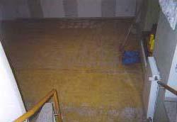 Hotel Albrechtshof, Teppichkleber entfernen