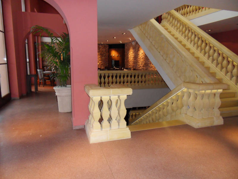 neuer Fußboden aus Terrazzo im estaurant Tauro in Berlin