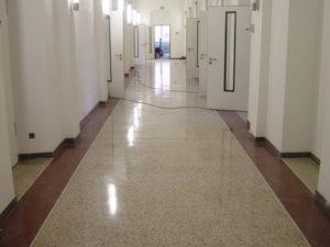 Terrazzoverlegung in der Universitätsklinik Bonn