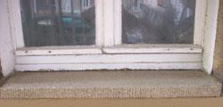 Terrazzo Fensterbrett nach der Sanierung