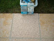Terrazzo Reinigung von Rostlöser