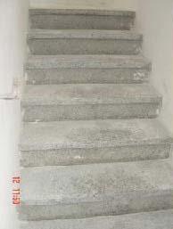 Terrazzo Treppen vor der Imprägnierung